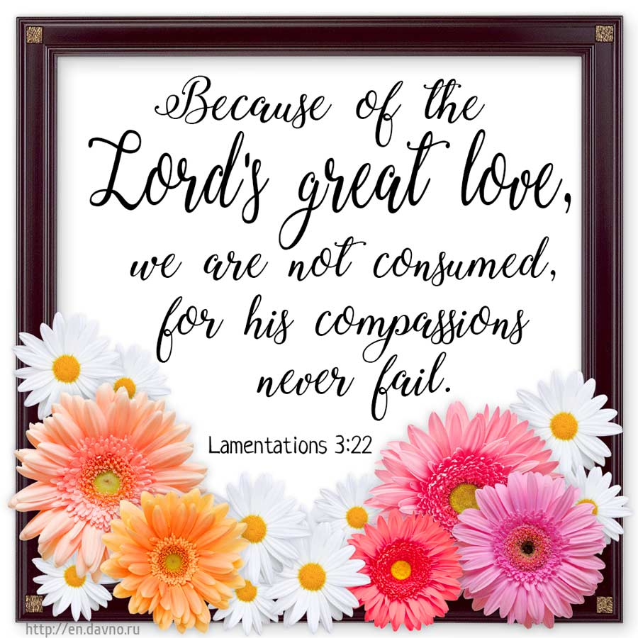 Lamentations 3 22 Bible Verse Image Because Of The Lord