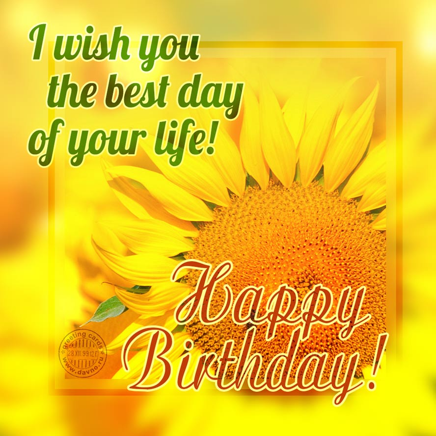 I wish you the best day of your life!