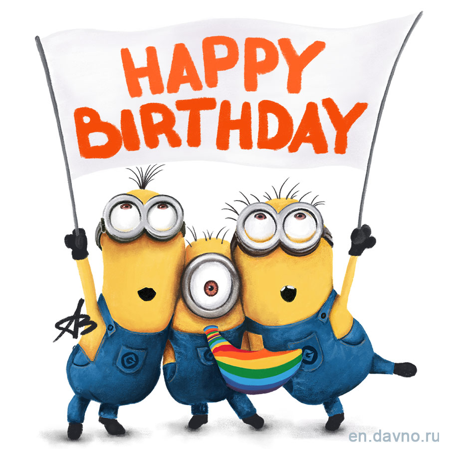 Despicable Me Minions Happy Birthday Card