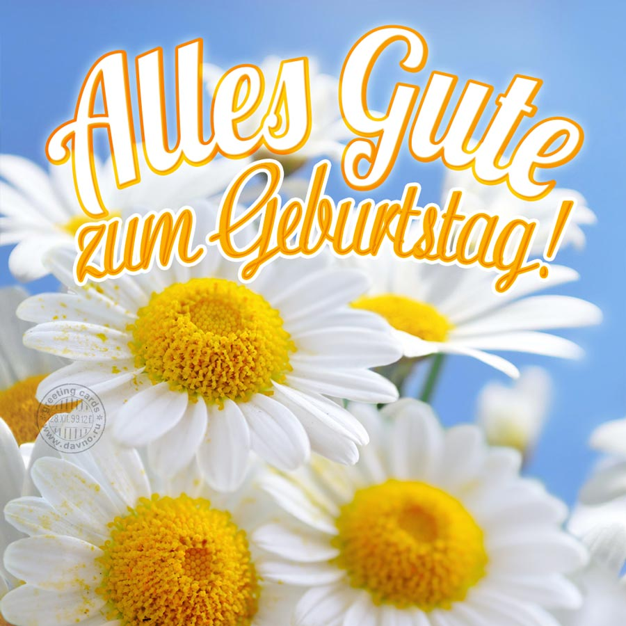 Alles Gute zum Geburtstag! - Happy Birthday in German