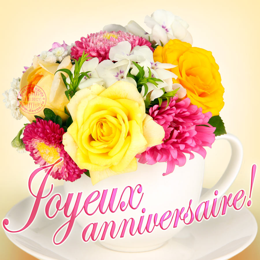 Joyeux Anniversaire Happy Birthday In French Download On Davno