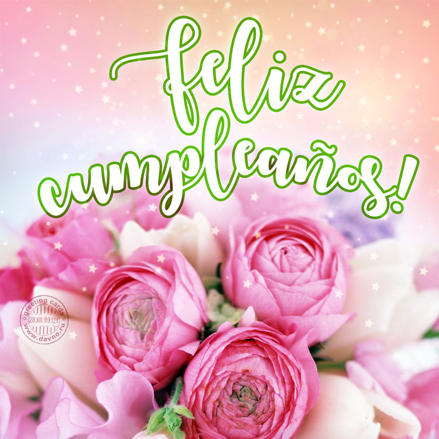 Feliz cumpleaños! - Beautiful Happy Birthday Card in Spanish