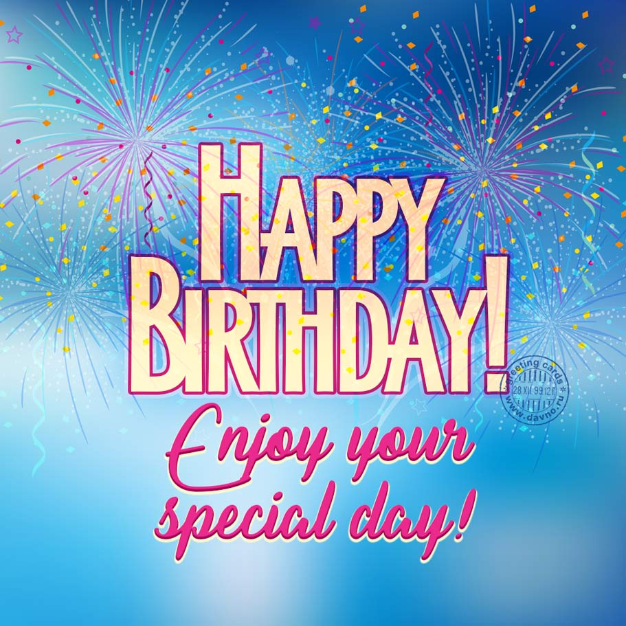 Enjoy your special day!