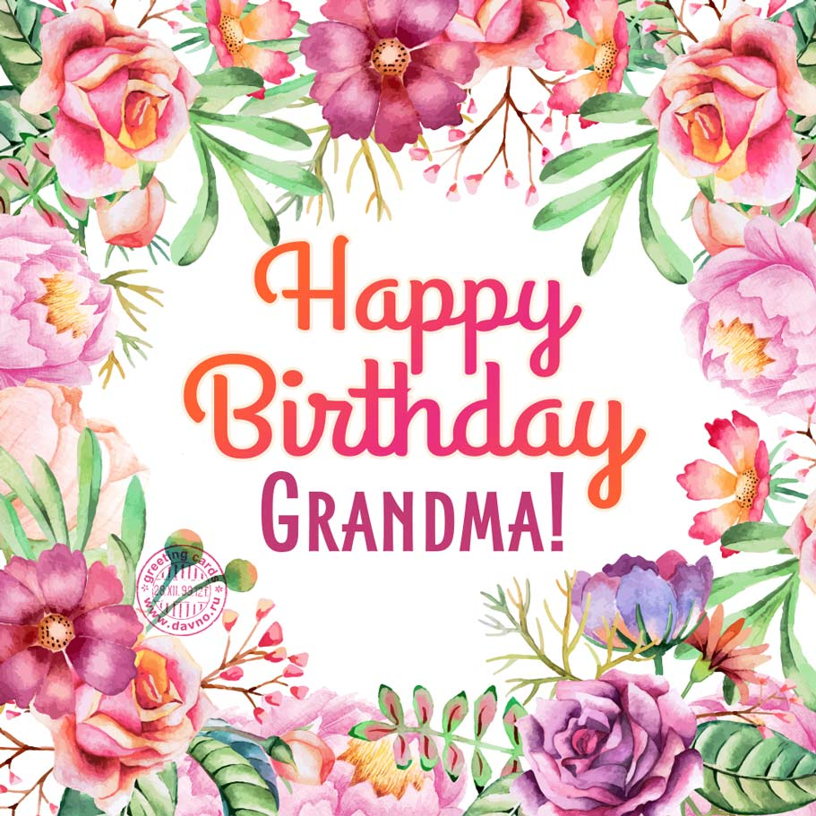 Happy Birthday Grandma!