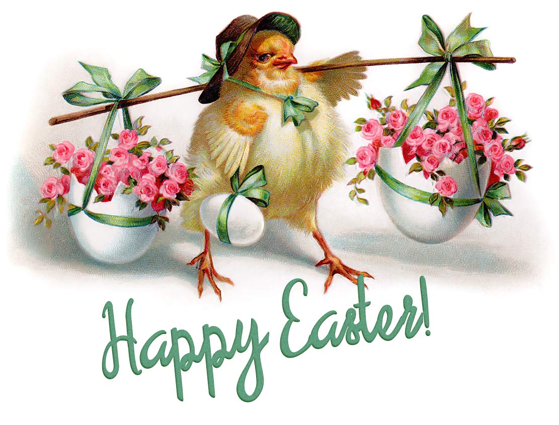 Beautiful Vintage Easter Postcard
