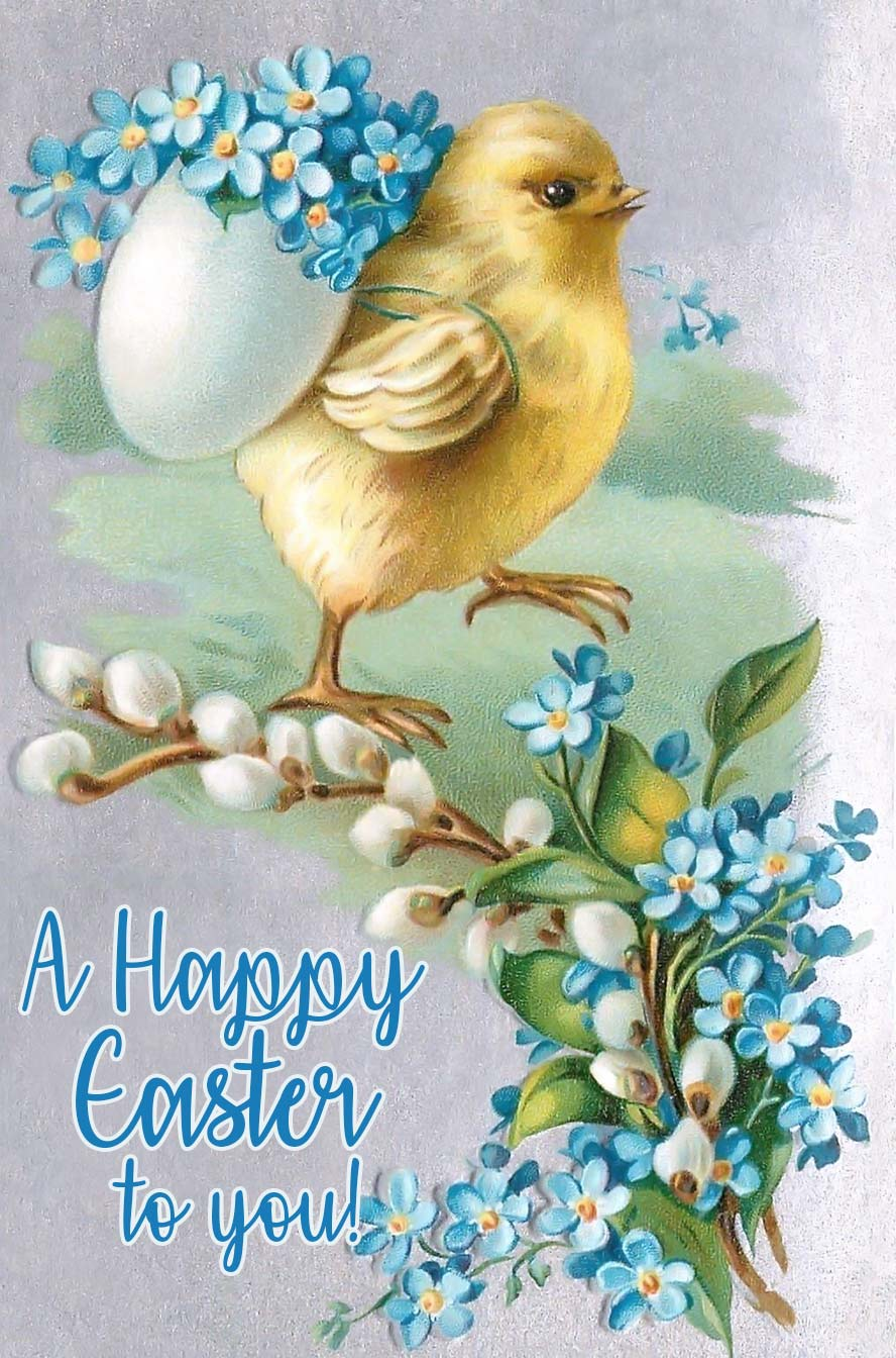 A Happy Easter to you! Vintage Easter postcard.