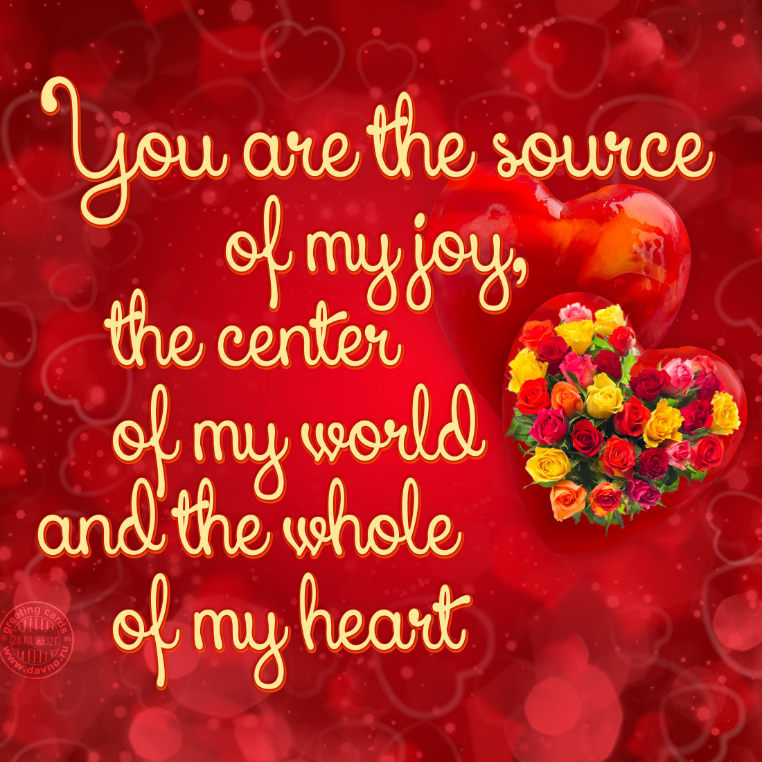 You are the source of my joy
