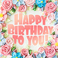 Sweet and beautiful cake Happy Birthday card