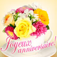 Joyeux anniversaire - Happy Birthday in French