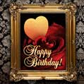 Golden Frame Birthday Card