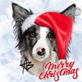 Merry Christmas Dog Portrait Card